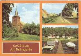 AK DDR 1988 Alt-Schwerin Krs. Waren