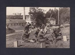 Rare Carte Photo Lisle En Rigault (55) Guerre 1914-1918 Mitrailleuses Defense Anti Aerienne Près  Papeterie Jeand' Heurs - Francia