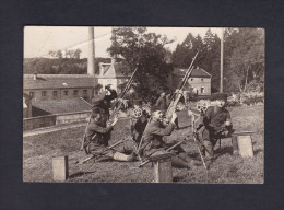 Rare Carte Photo Lisle En Rigault (55) Guerre 1914-1918 Mitrailleuses Defense Anti Aerienne Près  Papeterie Jeand' Heurs - Other Municipalities