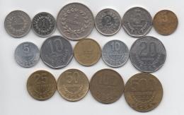 Costa Rica : Série De 15 Pièces Différentes : 0,25 Colon - 500 Colones 1978-2012 - Costa Rica