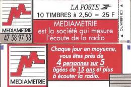 """CARNET 2720-C 3 Marianne De Briat """"Médiamétrie"""" Avec Trait Gris Au Recto (en Bas à Droite). RARE - Carnets"""