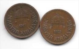 Hungary 2 X2 Filler 1927+1929  Km 506   Vf+ - Hongrie