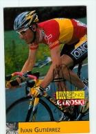 Ivan GUTIERREZ , Autographe Manuscrit, Dédicace . 2 Scans. Cyclisme. Once - Cycling