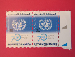 Maroc 2015 - 70ème Anniversaire Des Nations Unies - Paire ** - Morocco (1956-...)
