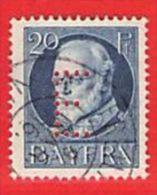 MiNr.15 D O Altdeutschland Bayern Dienstmarken - Bayern (Baviera)