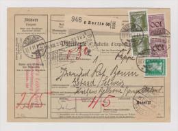 DR 1927-07-27 Berlin W Paketkarte Nach Gstaad Transit Basel 17 - Germany