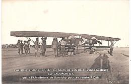 L'Aviateur Etienne POULET Au Cours De Son Raid France-Australie Sur CAUDRON G-4 - Aérodrome De KARATCHY
