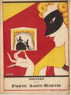 Programme En Petit Livret Du Théatre De La Porte Saint-Martin Pour La Saison 1929-1930 - Programmi