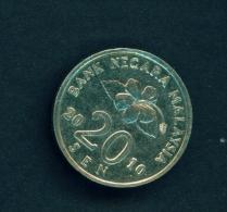 MALAYSIA  -  2010  20s  Circulated Coin - Malaysia