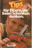 """FISCHERTECHNIK - """"CONSEILS POUR PARENTS QUI PENSENT AUX CADEAUX"""" -  (Dépliant Uniquement En Langue Allemande) - Fischertechnik"""