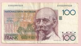 BANCONOTA  DA 100 FRANCHI BELGI CIRCOLATA - [ 6] Treasury