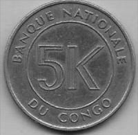 5 Makuta 1967  Clas D 57 - Congo (Rép. Démocratique, 1964-70)