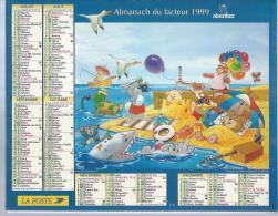 ALMANACH DU FACTEUR 1999 ( CALENDRIER ) Photo: PICTOR UNIPHOTO ( REQUIN ) - Calendriers