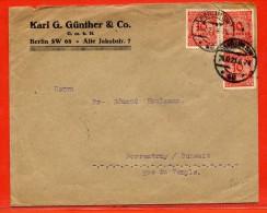 ALLEMAGNE INFLATION LETTRE DE 1923 DE BERLIN POUR PORRENTRUY SUISSE - Deutschland