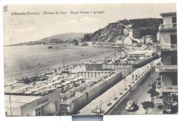 ALBISSOLA BAGNI SIRENA E SPIAGGIA 1950 VIAGGIATA FP - Savona