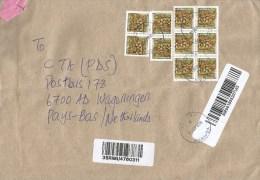 Uganda 2015 Pallisa Bell's Flinged Tortoise 700/- Reptile Barcoded Registered Cover - Oeganda (1962-...)
