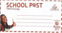 Uganda School Post 500/- Domestic Stationary Unused Cover - Oeganda (1962-...)