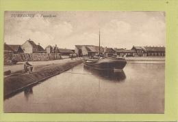 TURNHOUT:VAARTKOM -BINNENVAART-MEULEMAN-MET VOLK - PRACHT KAART -THEMA, - Turnhout