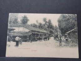 COLOMBO - Vers La Route Du Mont Lavinia Pour Antibes France - CP Affranchie Timbres De L'hotel Kandy - P 16100 - Sri Lanka (Ceylon)