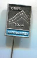 Alpinism Mountaineering Climbing - KANGBACHEN Himalaya 1974. Vintage Pin Badge - Alpinism, Mountaineering