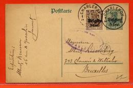 BELGIQUE OCCUPATION ALLEMANDE ENTIER POSTAL DE 1916 DE CHARLEROI - Stamped Stationery