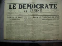 LE DEMOCRATE  DE L´AISNE  N°81  DU DIMANCHE 30 OCTOBRE 1938 - Journaux - Quotidiens