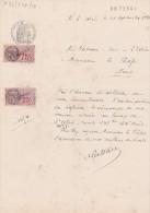 L'ABSIE Deux Sèvres Manuscrit Demande Autorisation Crépissage - Papier Timbré 4F Filigrane 1935 Timbre Fiscal - Unclassified