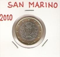 *SAN MARINO - 1 Euro - Emissione 2010 - San Marino