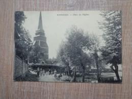 CPA 78 BONNIERES PLACE EGLISE - Bonnieres Sur Seine