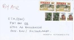 Ghana 2015 Birem State Insurance Company Martial Eagle (Polemaetus Bellicosus) Papaya Fruit Cover - Ghana (1957-...)