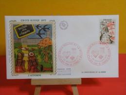 FDC- Croix Rouge Et La Poste,  Printemps Automne - 972 Fort De France - 29 & 30.11.1975 - 1er Jour,Lot 2 FDC - FDC