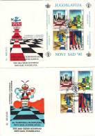 Yugoslavia 1990. The 29th Chess Olympiad Novi Sad, 2 FDC - Schach