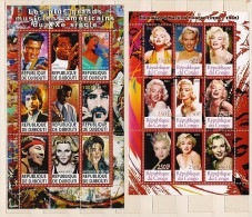 Mint MNH (**) 2 BF Block Stamp Music Singer Presley Actress Monroe - Vignettes De Fantaisie