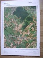 GRAND PHOTO VUE AERIENNE  66 Cm X 48 Cm De 1979    MONS HAVRE - Carte Topografiche
