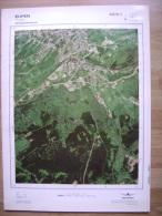 GRAND PHOTO VUE AERIENNE  66 Cm X 48 Cm De 1981  EUPEN - Topographical Maps