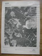 GRAND PHOTO VUE AERIENNE  66 Cm X 48 Cm De 1981  EUPEN - Carte Topografiche