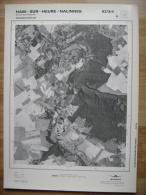 GRAND PHOTO VUE AERIENNE  66 Cm X 48 Cm De 1979  HAM SUR HEURE NALINNES COUR SUR HEURE - Mapas Topográficas