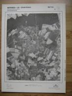 GRAND PHOTO VUE AERIENNE  66 Cm X 48 Cm De 1979 MERBES LE CHATEAU SAINTE MARIE - Carte Topografiche