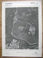 GRAND PHOTO VUE AERIENNE  66 Cm X 48 Cm De 1984 STOUMONT LORCE - Mapas Topográficas