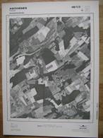 GRAND PHOTO VUE AERIENNE  66 Cm X 48 Cm De 1985 ANTHISNES TAVIER - Mapas Topográficas
