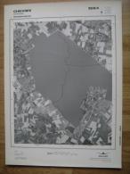 GRAND PHOTO VUE AERIENNE  66 Cm X 48 Cm De 1979  CHIEVRES - Topographical Maps