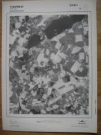 GRAND PHOTO VUE AERIENNE  66 Cm X 48 Cm De 1979 TOURNAI MAULDE - Mapas Topográficas