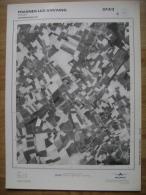 GRAND PHOTO VUE AERIENNE  66 Cm X 48 Cm De 1979  FRASNES LEZ ANVAING FOREST - Mapas Topográficas