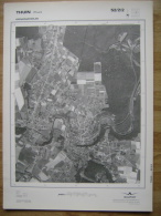 GRAND PHOTO VUE AERIENNE  66 Cm X 48 Cm De 1979 THUIN - Mapas Topográficas