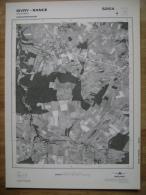 GRAND PHOTO VUE AERIENNE  66 Cm X 48 Cm De 1985 SIVRY RANCE GRANDIEU - Mapas Topográficas