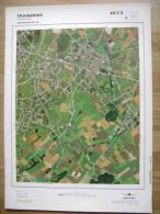 GRAND PHOTO VUE AERIENNE  66 Cm X 48 Cm De 1979  FRAMERIES - Cartes Topographiques