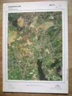 GRAND PHOTO VUE AERIENNE  66 Cm X 48 Cm De 1979  COURSELLES SOUVRET - Mapas Topográficas