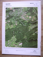 GRAND PHOTO VUE AERIENNE  66 Cm X 48 Cm De 1985 NEUPRE PLAINEVAUX - Mapas Topográficas