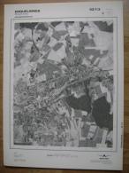 GRAND PHOTO VUE AERIENNE  66 Cm X 48 Cm De 1979 ERQUELINNES - Topographical Maps