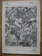 GRAND PHOTO VUE AERIENNE  66 Cm X 48 Cm De 1979 ATH ORMEIGNIES - Topographical Maps